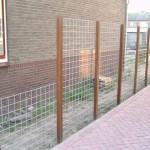 betongaas tegen palen