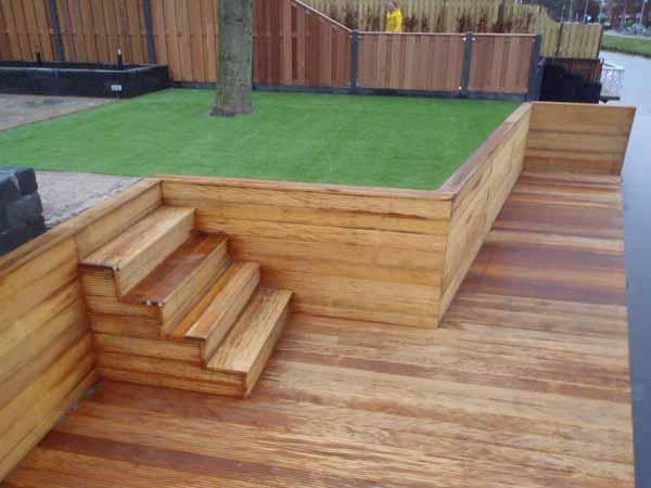 Houten Tuin Vlonders : Houten vlonders tuin fresh voorbeeld houten terras lork lines