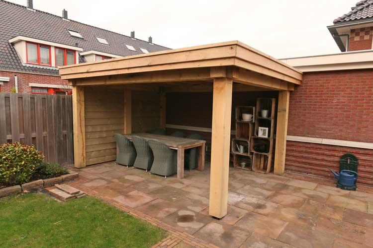 Overkapping In Tuin : Een terrasoverkapping van douglashout veranda en overkapping tuin