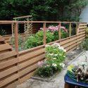 Schutting hardhout planken 16×145 horizontaal om-en-om