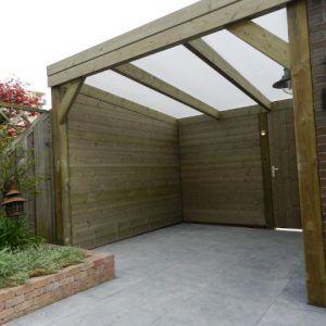 Overkapping met polycarbonaat dak